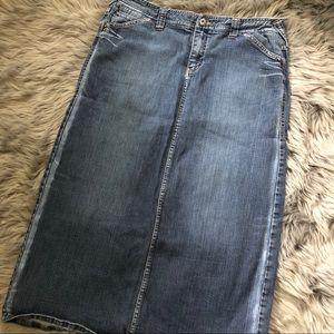 Tommy Hilfiger jeans denim skirt long skirt